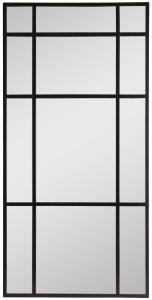 Block & Chisel rectangular mirror with black iron frame