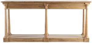 Block & Chisel rectangular 6 leg wooden console