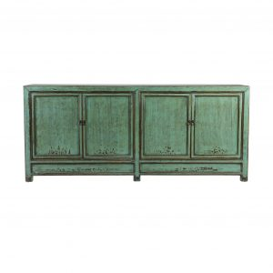 4 door green chinese sideboard