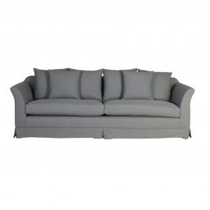 Lisboa 3.5 Seater Sofa | REMO - Grey upholstery sofa with cushions