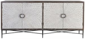 Block & Chisel recycled elm sideboard with iron legs
