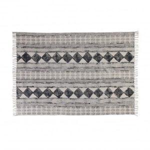 destinty rug with black diamond print